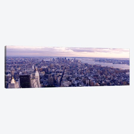 Aerial View From Top Of Empire State Building, Manhattan, NYC, New York City, New York State, USA Canvas Print #PIM3602} by Panoramic Images Canvas Art