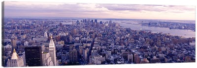 Aerial View From Top Of Empire State Building, Manhattan, NYC, New York City, New York State, USA Canvas Print #PIM3602