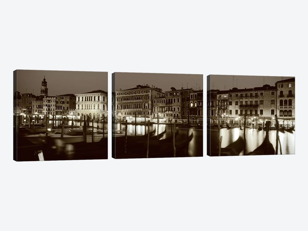 Grand Canal Venice Italy by Panoramic Images 3-piece Canvas Print