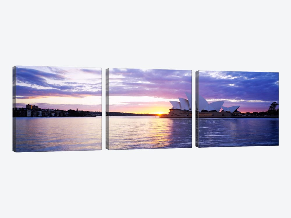 Sydney Opera House At Sunrise, Sydney, New South Wales, Australia by Panoramic Images 3-piece Canvas Art