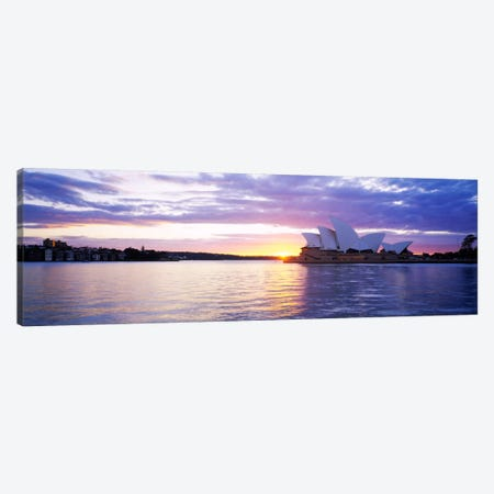 Sydney Opera House At Sunrise, Sydney, New South Wales, Australia 3-Piece Canvas #PIM360} by Panoramic Images Art Print