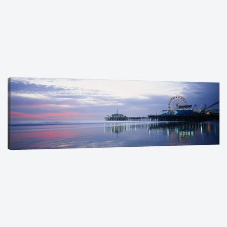 Santa Monica Pier, Santa Monica, Los Angeles County, California, USA Canvas Print #PIM3611} by Panoramic Images Art Print