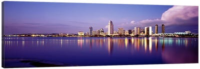 USA, California, San Diego, Financial district Canvas Art Print