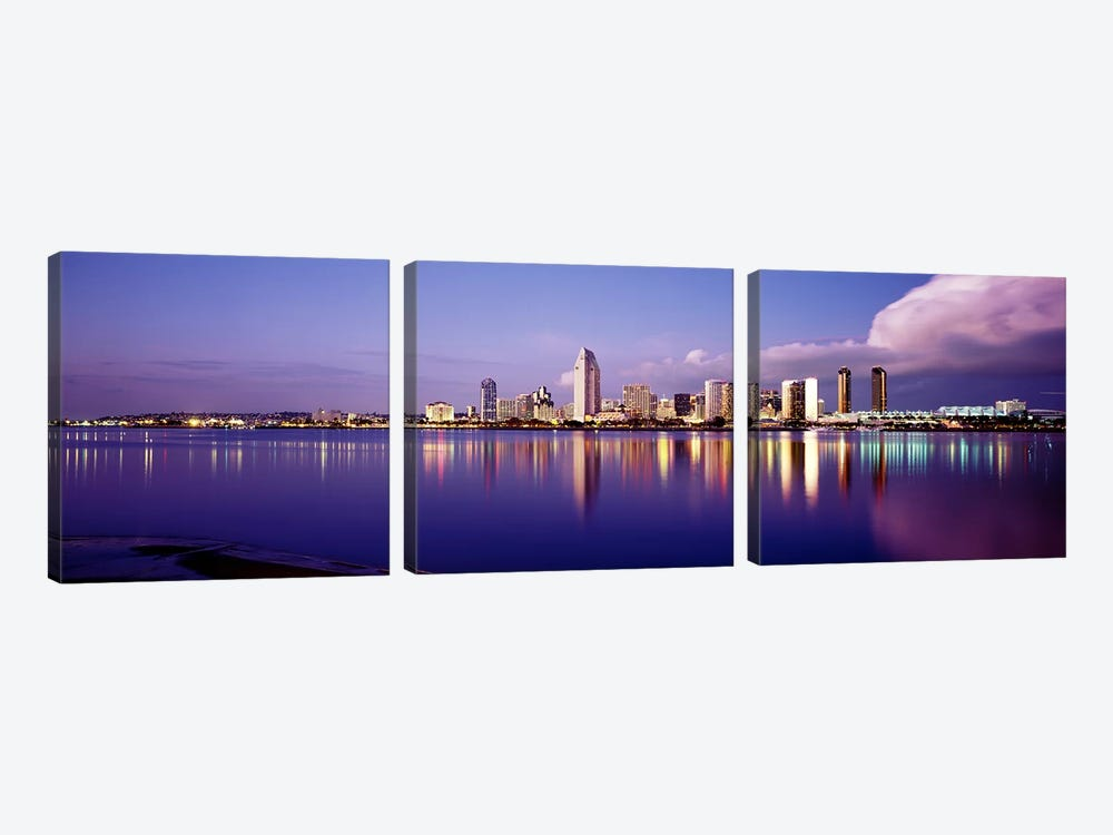 USA, California, San Diego, Financial district 3-piece Canvas Art Print