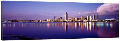 USA, California, San Diego, Financial district Canvas Art Print