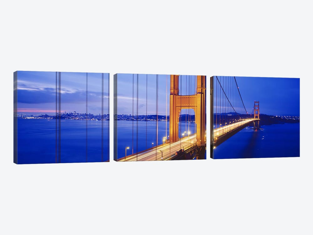 Golden Gate Bridge, San Francisco, California, USA #3 by Panoramic Images 3-piece Canvas Artwork