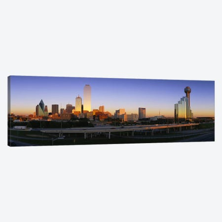 Skyscrapers In A City, Dallas, Texas, USA Canvas Print #PIM3614} by Panoramic Images Canvas Art