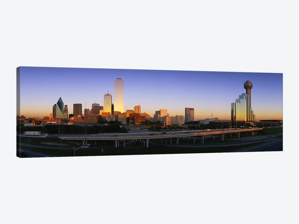 Skyscrapers In A City, Dallas, Texas, USA 1-piece Canvas Art Print