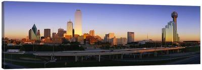Skyscrapers In A City, Dallas, Texas, USA Canvas Art Print