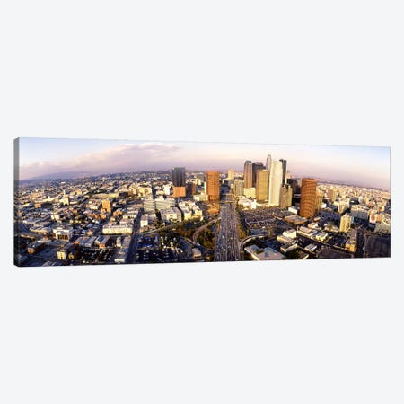 USA, California, Los Angeles, Financial District Canvas Print #PIM3618} by Panoramic Images Canvas Art Print