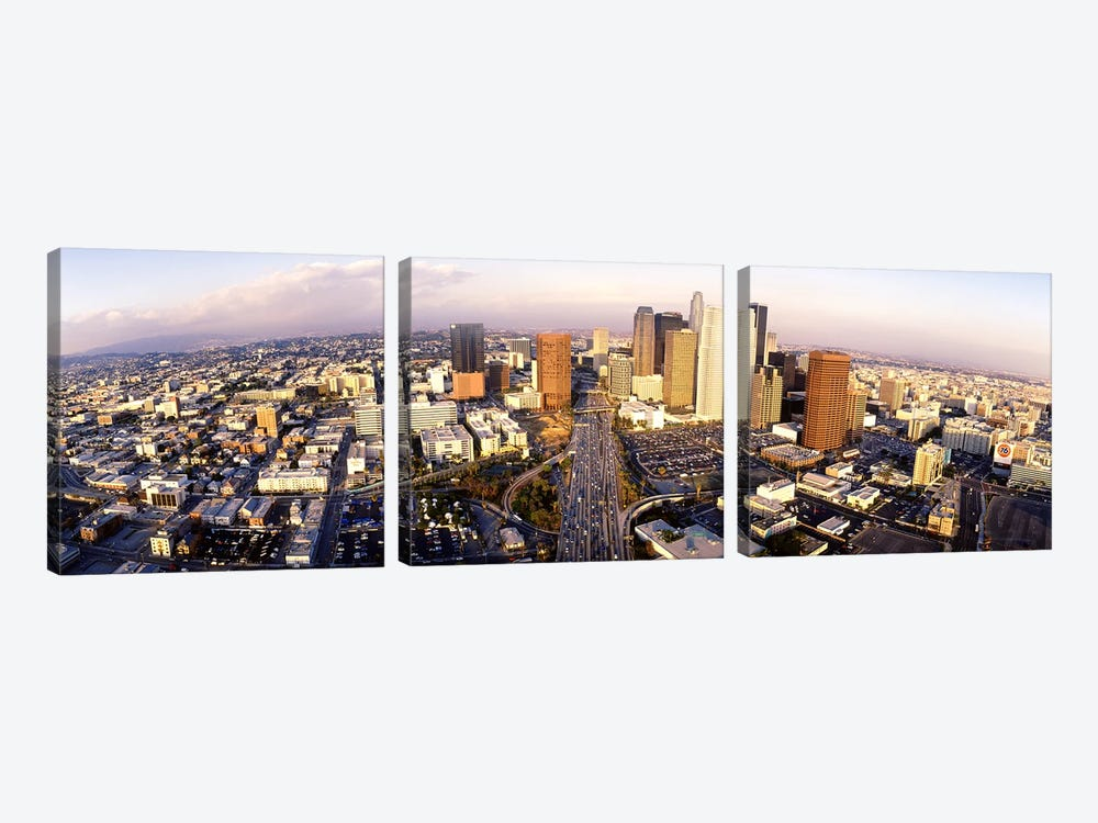 USA, California, Los Angeles, Financial District by Panoramic Images 3-piece Canvas Print