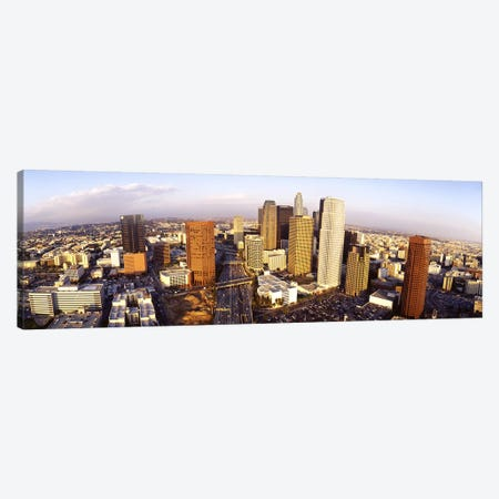 High angle view of the Financial District, Los Angeles, California, USA Canvas Print #PIM3619} by Panoramic Images Canvas Art Print