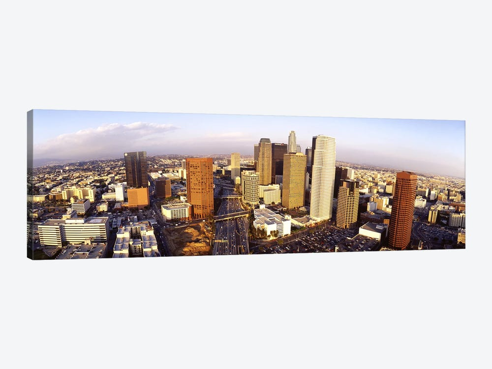 High angle view of the Financial District, Los Angeles, California, USA by Panoramic Images 1-piece Canvas Wall Art