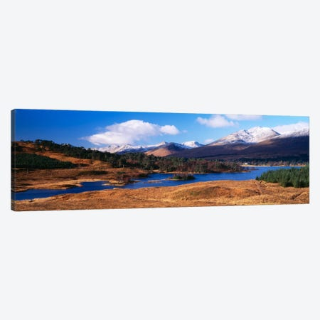Mountainside Landscape Featuring Loch Tulla, Argyll and Bute, Scotland, United Kingdom Canvas Print #PIM361} by Panoramic Images Canvas Art Print