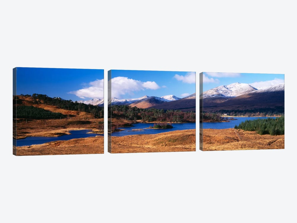 Mountainside Landscape Featuring Loch Tulla, Argyll and Bute, Scotland, United Kingdom by Panoramic Images 3-piece Art Print