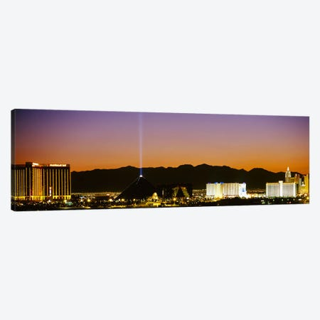 Buildings in a city lit up at night, Las Vegas, Nevada, USA Canvas Print #PIM3621} by Panoramic Images Canvas Art