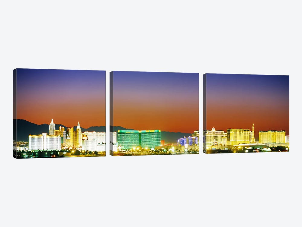 Las Vegas, Nevada, USA #2 by Panoramic Images 3-piece Canvas Wall Art