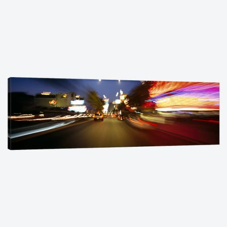 The Strip At Dusk, Las Vegas, Nevada, USA Canvas Print #PIM3624} by Panoramic Images Canvas Print