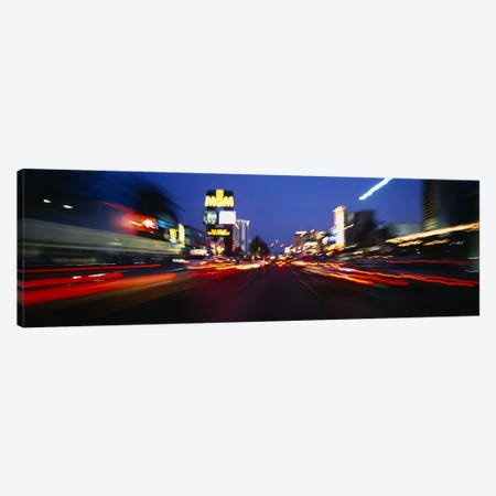 The Strip at dusk, Las Vegas, Nevada, USA #2 Canvas Print #PIM3625} by Panoramic Images Art Print