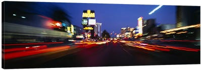 The Strip at dusk, Las Vegas, Nevada, USA #2 Canvas Art Print