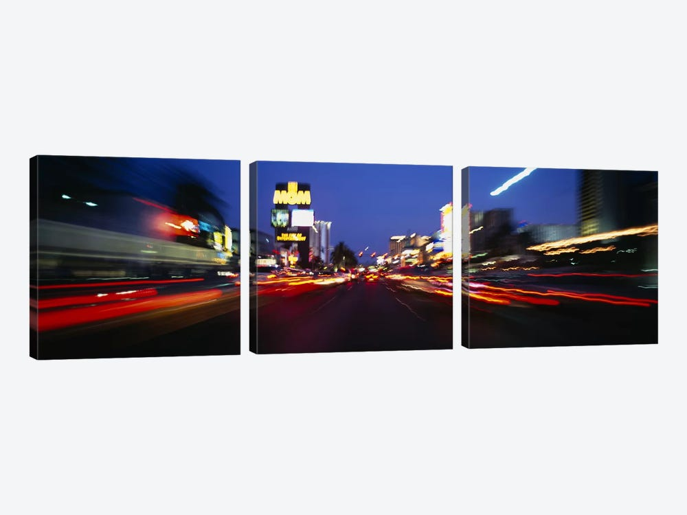 The Strip at dusk, Las Vegas, Nevada, USA #2 by Panoramic Images 3-piece Art Print