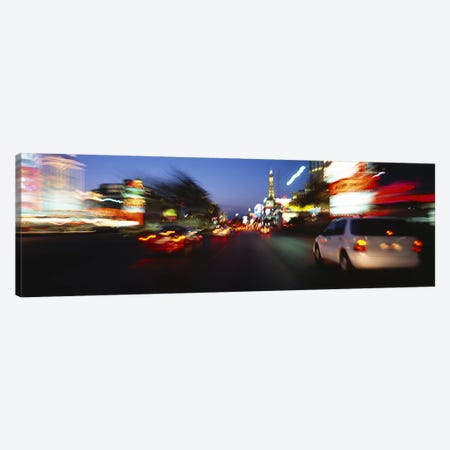 The Strip At Dusk, Las Vegas, Nevada, USA #3 Canvas Print #PIM3626} by Panoramic Images Art Print