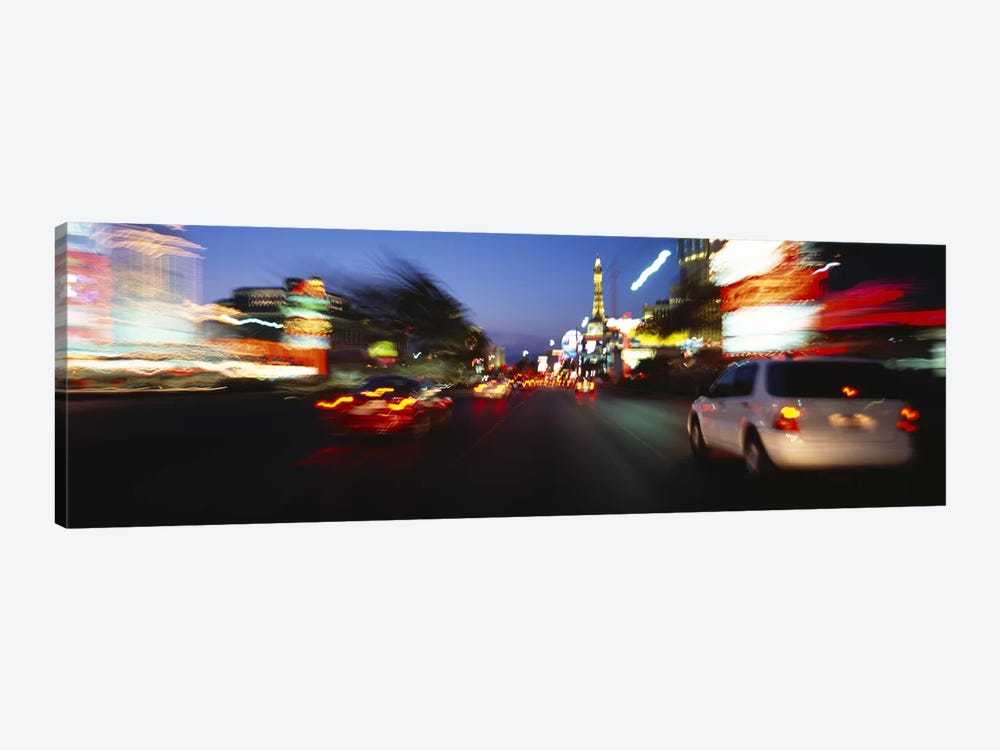 The Strip At Dusk, Las Vegas, Nevada, USA #3 1-piece Canvas Art
