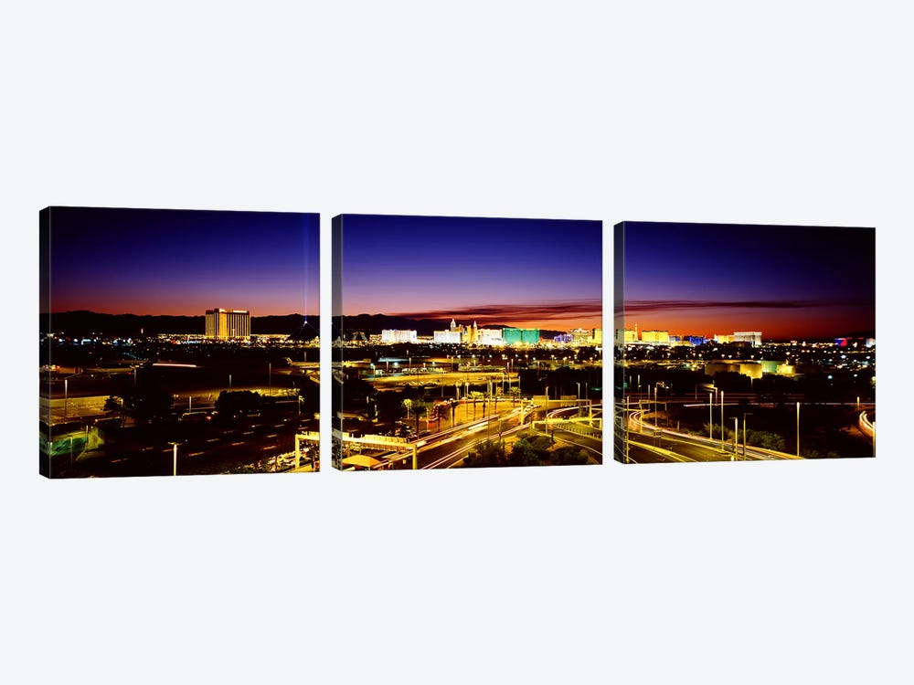 Las Vegas NV by Panoramic Images 3-piece Art Print
