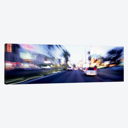 The Strip At Dusk, Las Vegas, Nevada, USA #4 Canvas Print #PIM3628} by Panoramic Images Canvas Artwork