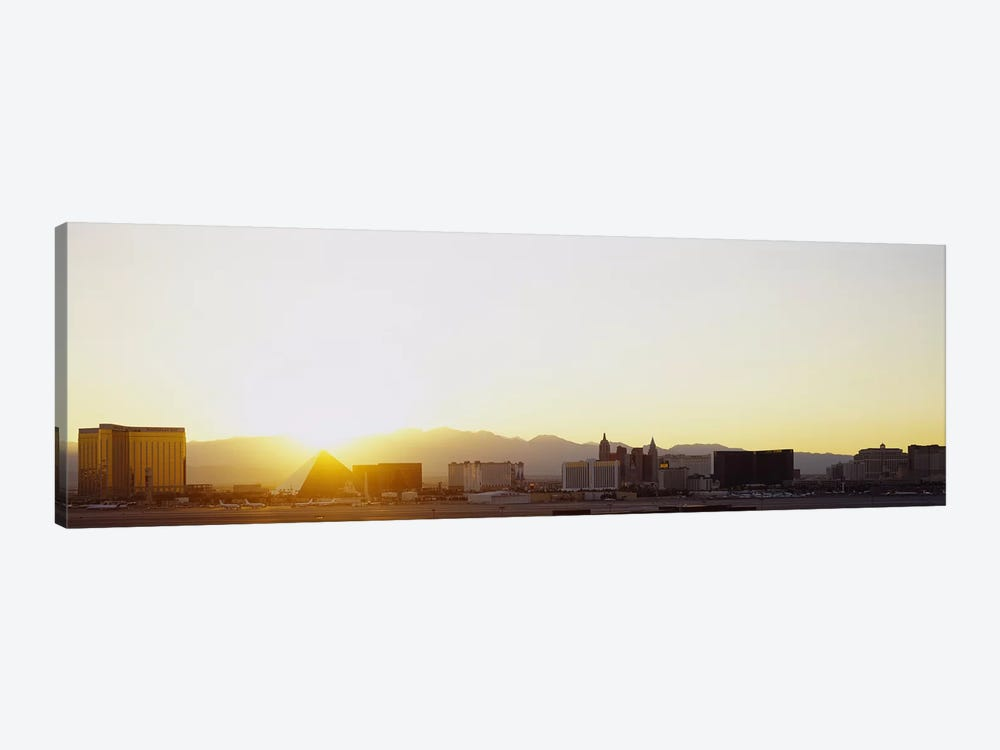 Sunrise over a city, Las Vegas, Nevada, USA by Panoramic Images 1-piece Art Print