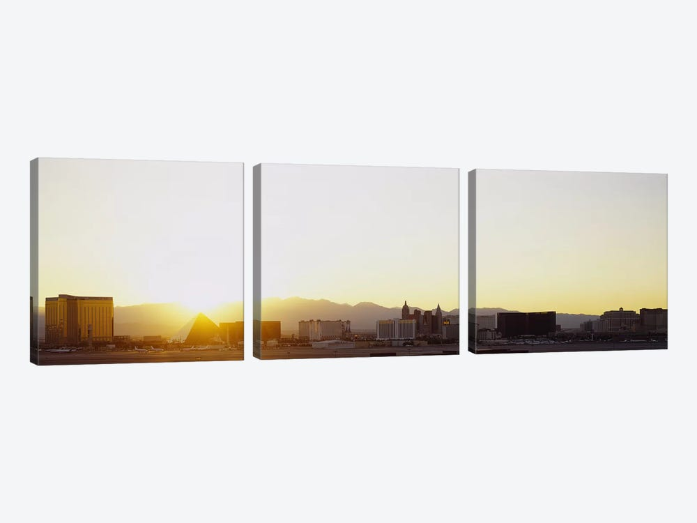 Sunrise over a city, Las Vegas, Nevada, USA by Panoramic Images 3-piece Art Print