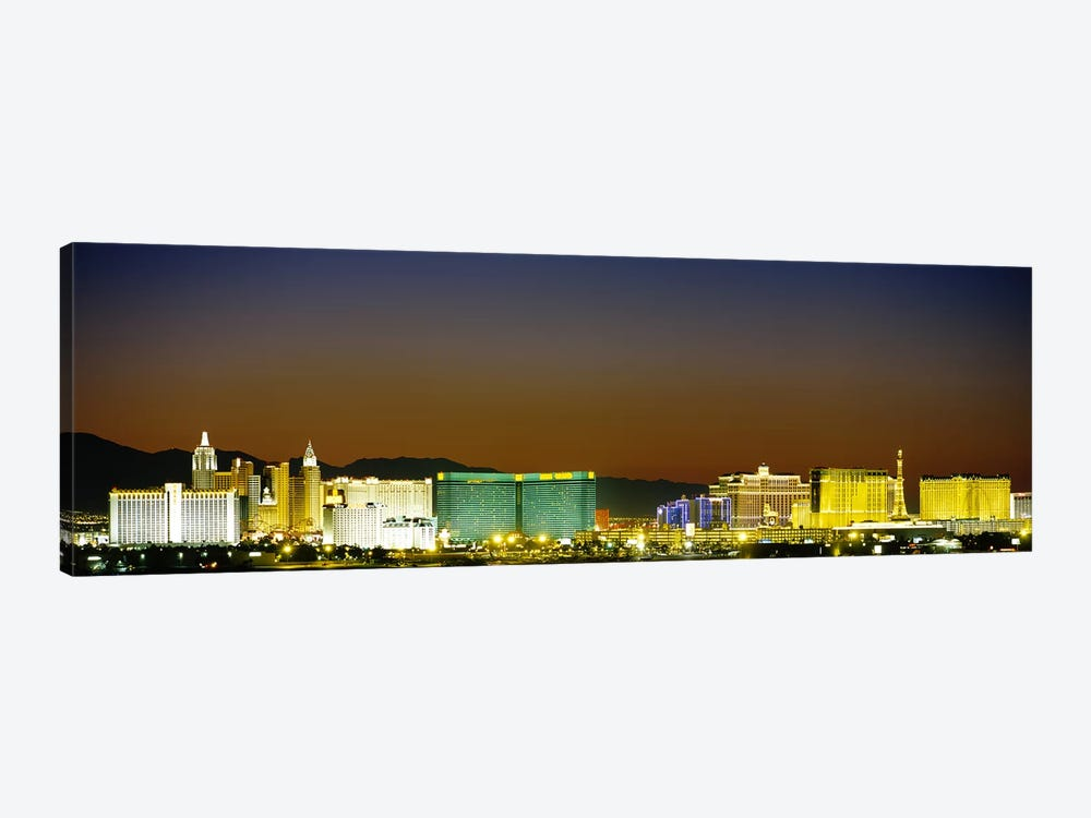 Buildings lit up at dusk, Las Vegas, Nevada, USA #2 by Panoramic Images 1-piece Canvas Art Print
