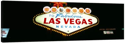 Close-up of a welcome sign, Las Vegas, Nevada, USA Canvas Art Print