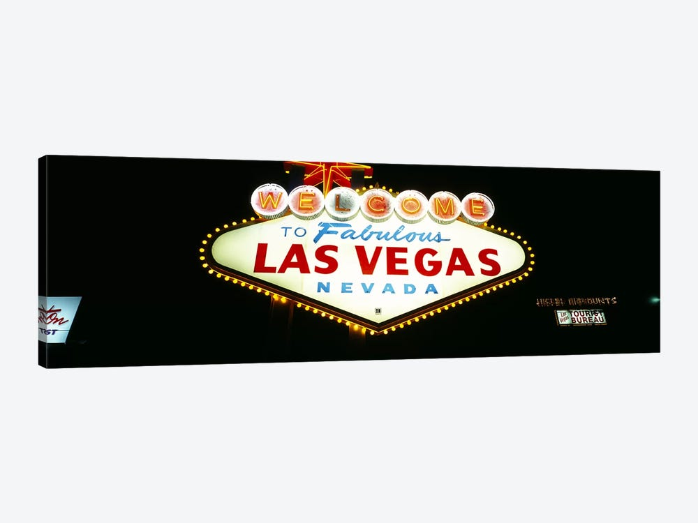 Close-up of a welcome sign, Las Vegas, Nevada, USA by Panoramic Images 1-piece Canvas Art