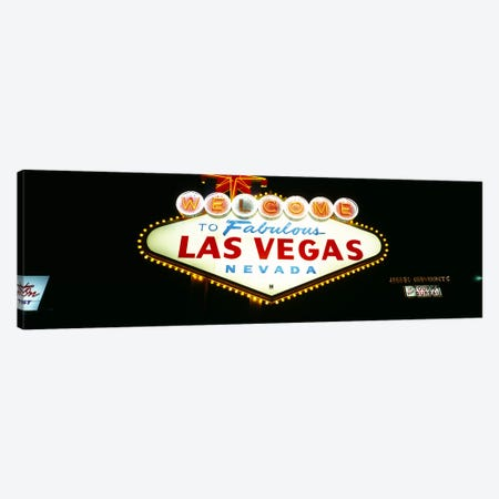 Close-up of a welcome sign, Las Vegas, Nevada, USA Canvas Print #PIM3631} by Panoramic Images Canvas Print