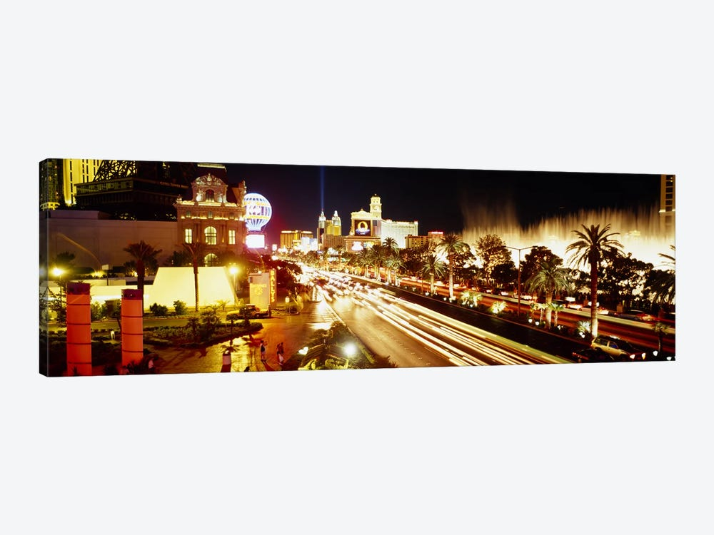 Buildings in a city lit up at night, Las Vegas, Nevada, USA #2 by Panoramic Images 1-piece Canvas Print