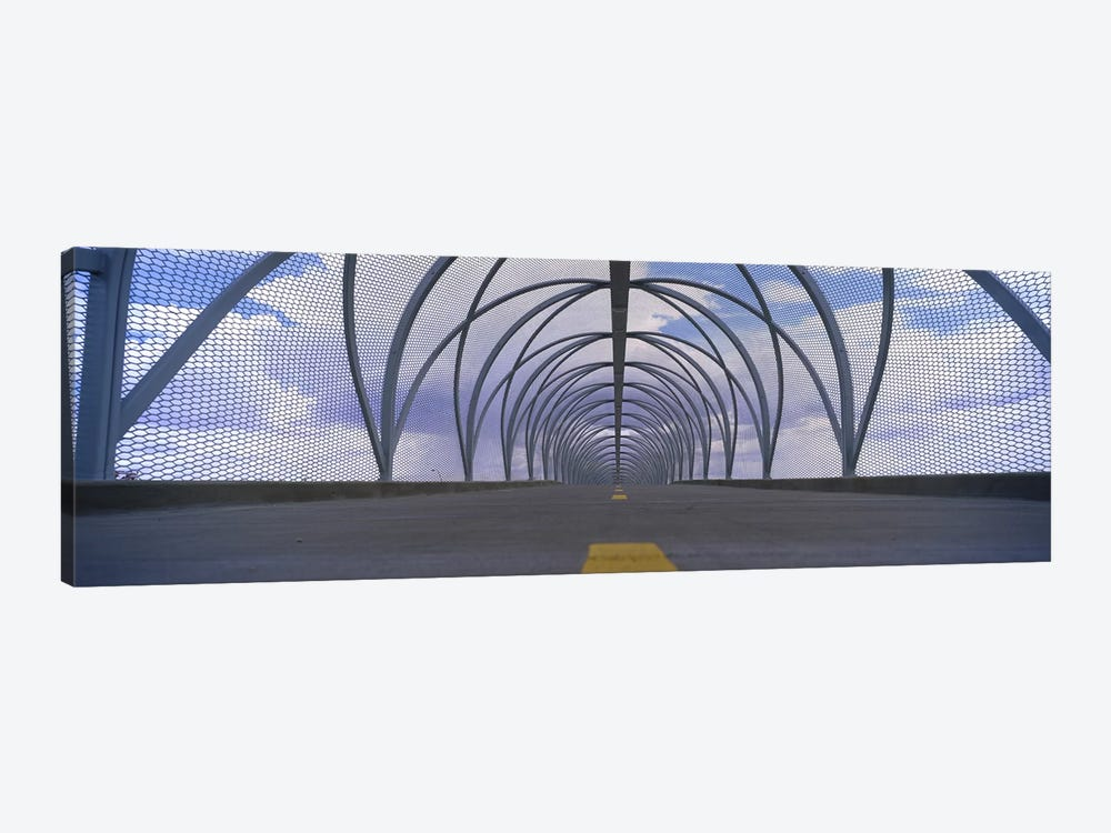 Chain-link fence covering a bridge, Snake Bridge, Tucson, Arizona, USA by Panoramic Images 1-piece Canvas Wall Art