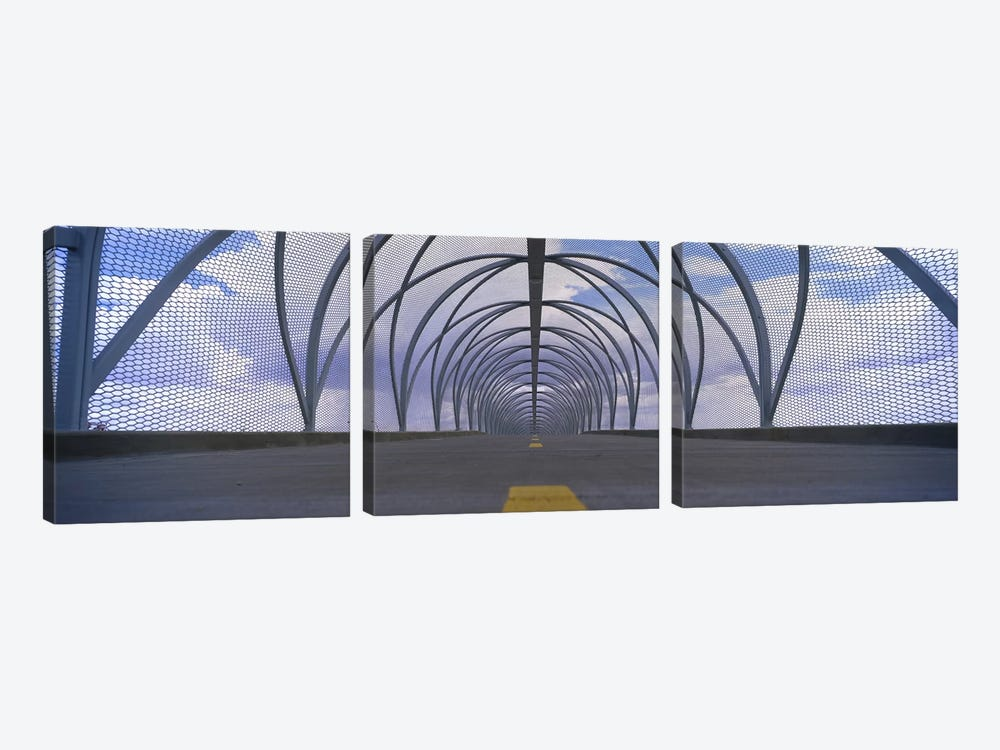 Chain-link fence covering a bridge, Snake Bridge, Tucson, Arizona, USA by Panoramic Images 3-piece Canvas Artwork