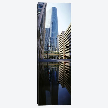 Reflection of buildings on water, Houston, Texas, USA Canvas Print #PIM3634} by Panoramic Images Canvas Art