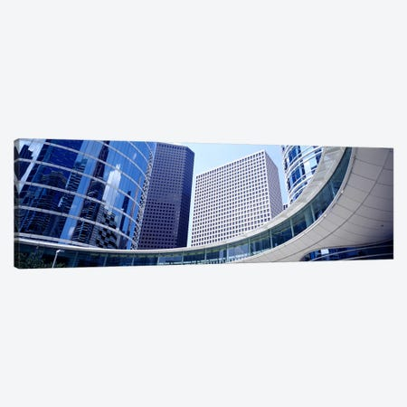 Low angle view of buildings in a city, Enron Center, Houston, Texas, USA Canvas Print #PIM3636} by Panoramic Images Canvas Wall Art