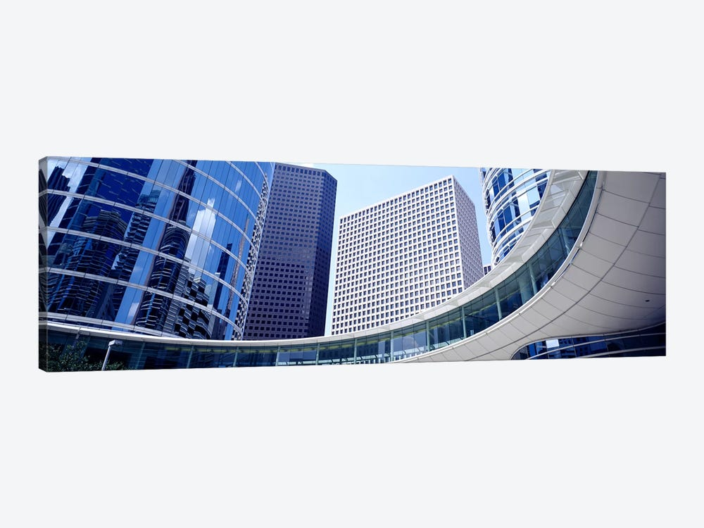 Low angle view of buildings in a city, Enron Center, Houston, Texas, USA by Panoramic Images 1-piece Canvas Art Print