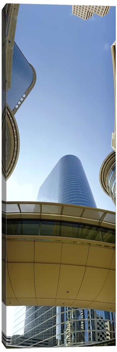 Low angle view of buildings in a city, Enron Center, Houston, Texas, USA #2 Canvas Art Print