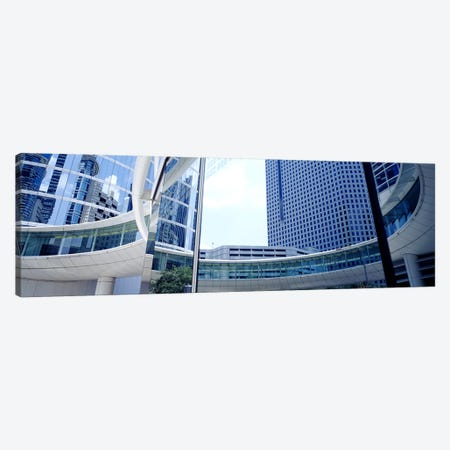 Low angle view of skyscrapers, Enron Center, Houston, Texas, USA Canvas Print #PIM3638} by Panoramic Images Art Print