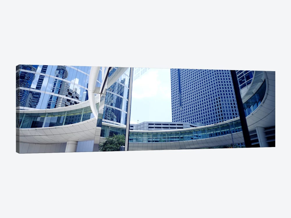 Low angle view of skyscrapers, Enron Center, Houston, Texas, USA by Panoramic Images 1-piece Canvas Art Print