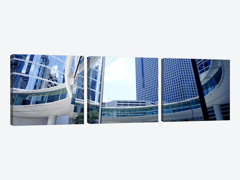 Low angle view of skyscrapers, Enron Center, Houston, Texas, USA by Panoramic Images 3-piece Art Print