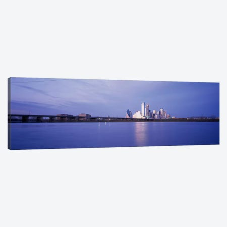 Buildings on the waterfront, Dallas, Texas, USA Canvas Print #PIM3639} by Panoramic Images Art Print