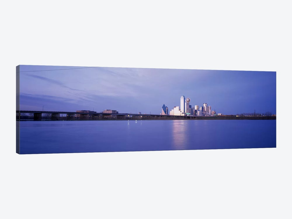 Buildings on the waterfront, Dallas, Texas, USA by Panoramic Images 1-piece Canvas Art