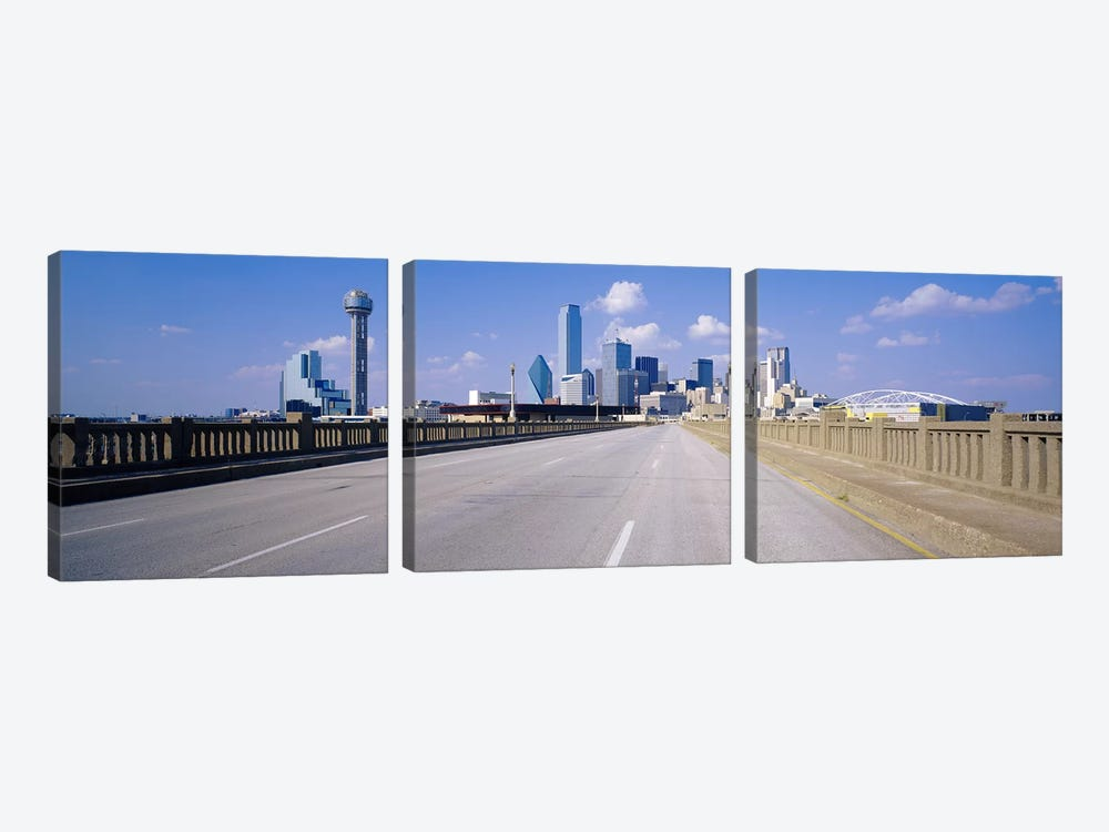 Buildings in a city, Dallas, Texas, USA #2 3-piece Canvas Wall Art