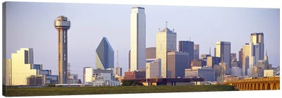 Buildings in a city, Dallas, Texas, USA #3 Canvas Art Print