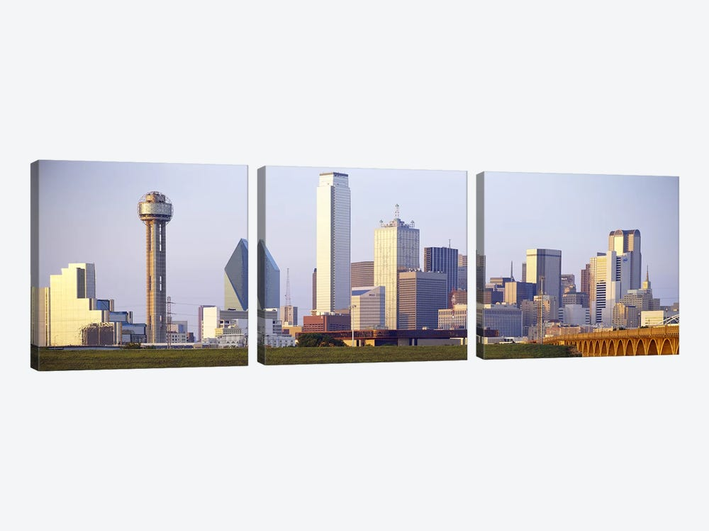 Buildings in a city, Dallas, Texas, USA #3 by Panoramic Images 3-piece Canvas Art Print